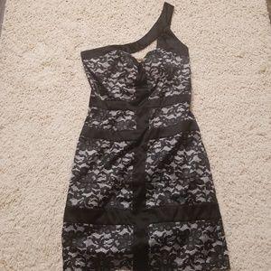 Black and creme XOXO dress